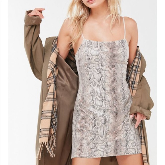 Urban Outfitters Dresses & Skirts - Urban Outfitters Textured Snake Print Mini Dress
